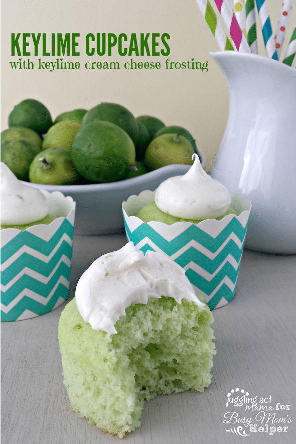 Keylime Cupcakes with keylime cream cheese frosting