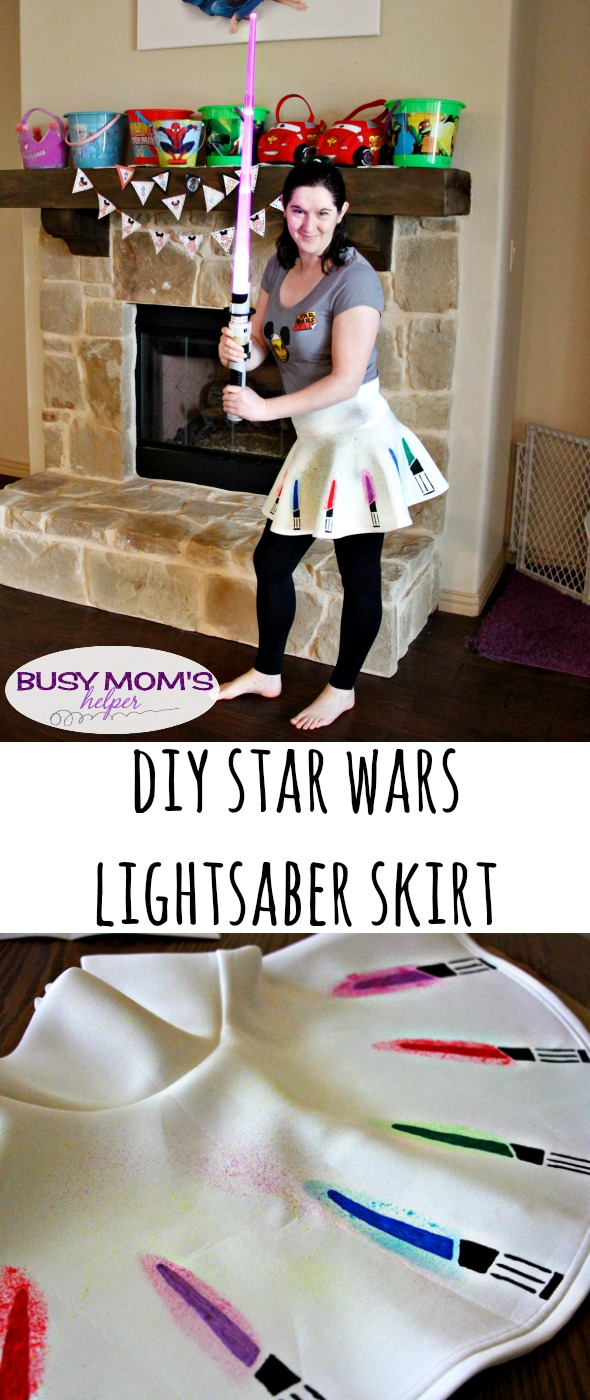 DIY Lightsaber Skirt / by BusyMomsHelper.com / Great Star Wars Skirt you can make yourself!
