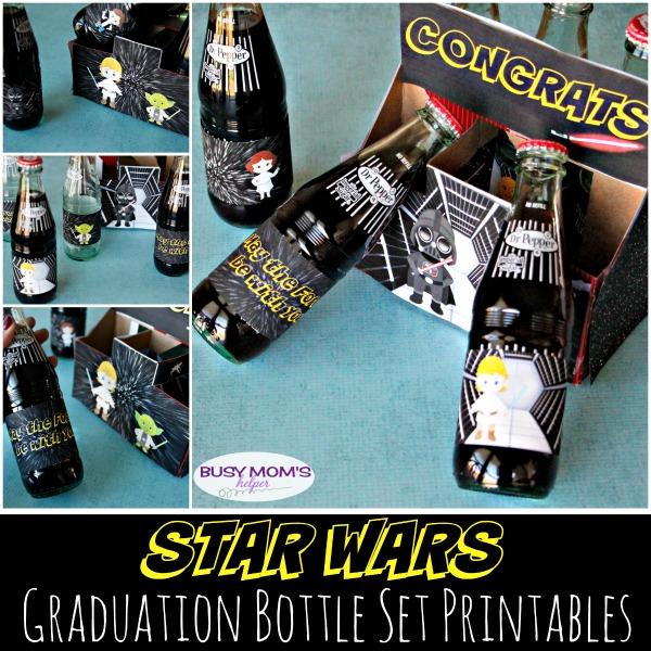 Star Wars Graduation Bottle Set Printables Busy Moms Helper