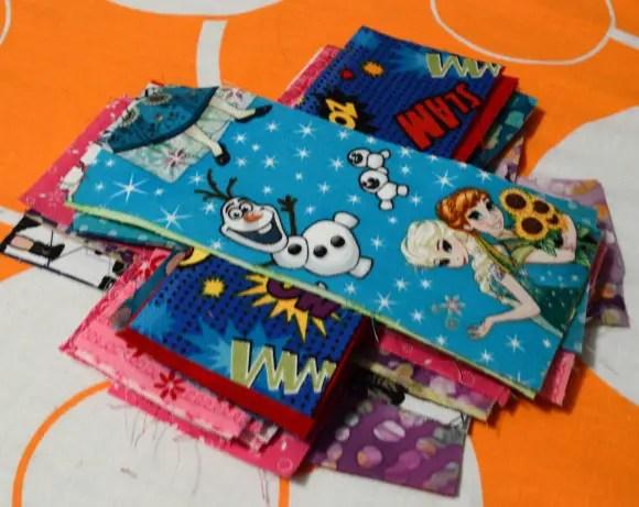 Fabric Scrap Bookmarks