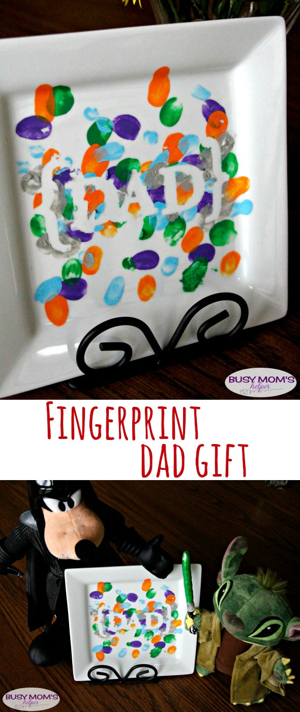 Fingerprint Dad Gift / by BusyMomsHelper.com for Craft Lightning / Easy crafts / DIY Gift Idea for Father's Day