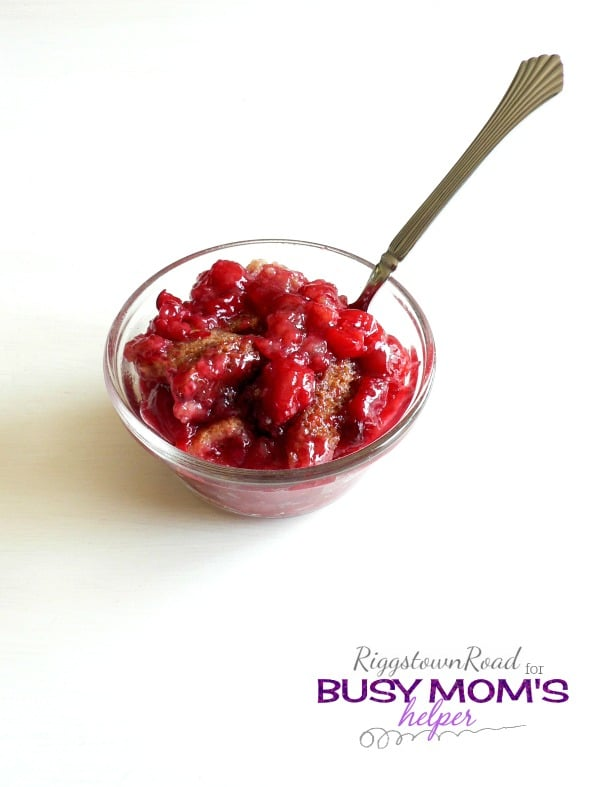 Gluten-Free Cherry Cobbler by Riggstown Road for Busy Mom's Helper
