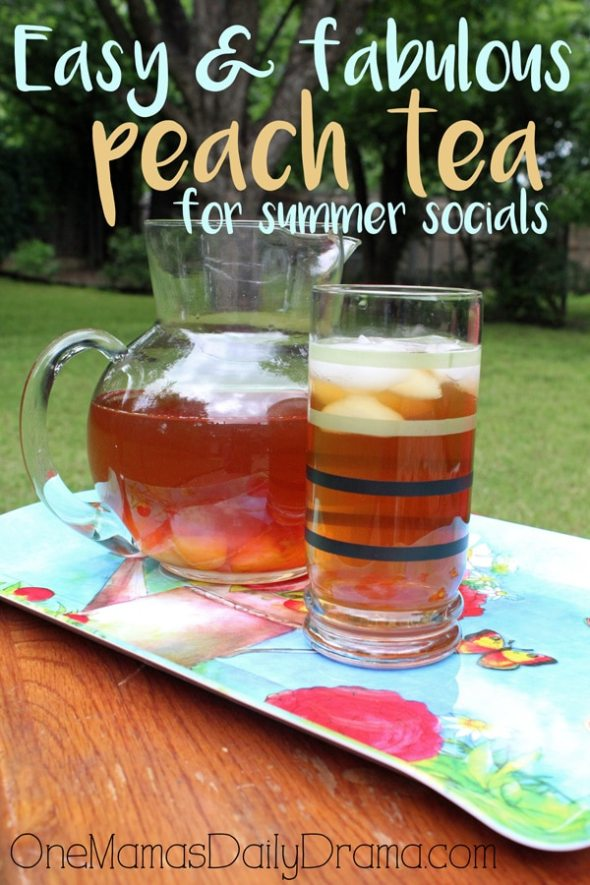 Easy and fabulous peach tea recipe by One Mama's Daily Drama