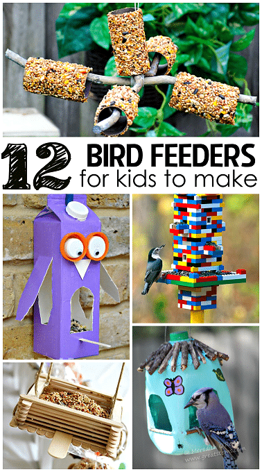 12 bird feeders for kids to make
