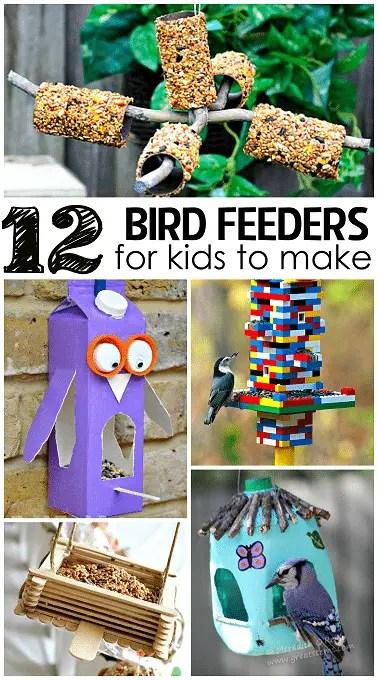 12 bird feeders for kids to make