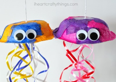 paper bowl jellyfish craft