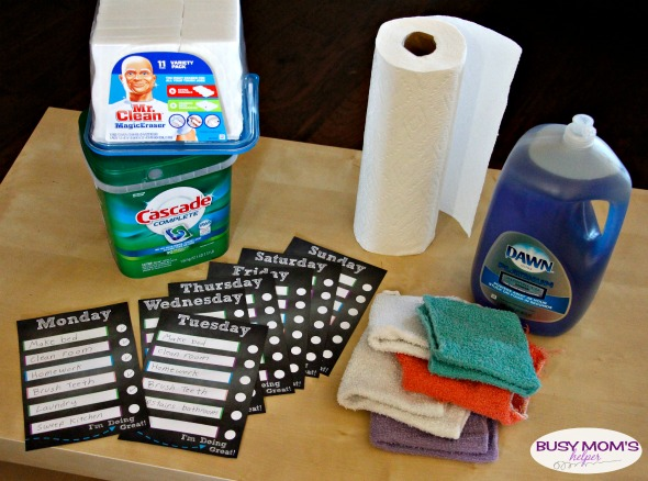 Customizable Daily Task Charts for Kids / by BusyMomsHelper.com #PGDetailsMatter #IC #ad