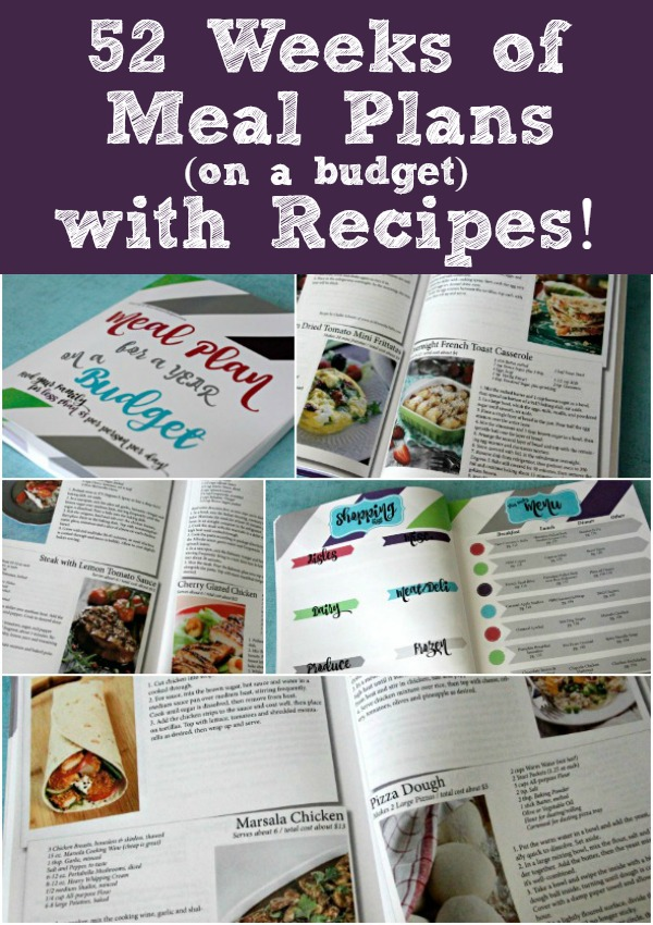 52 Weeks of Meal Plans on a Budget with Recipes