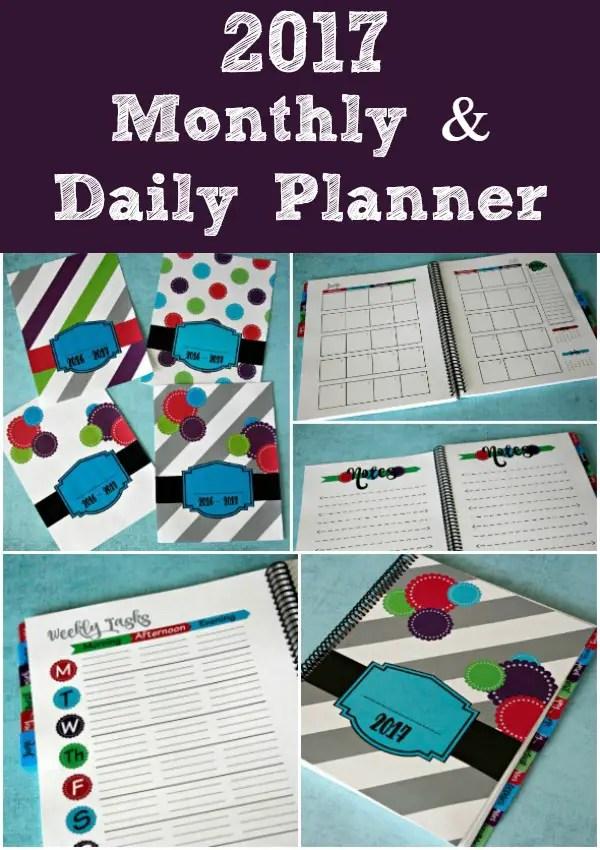 2017 Planner Printable #ad