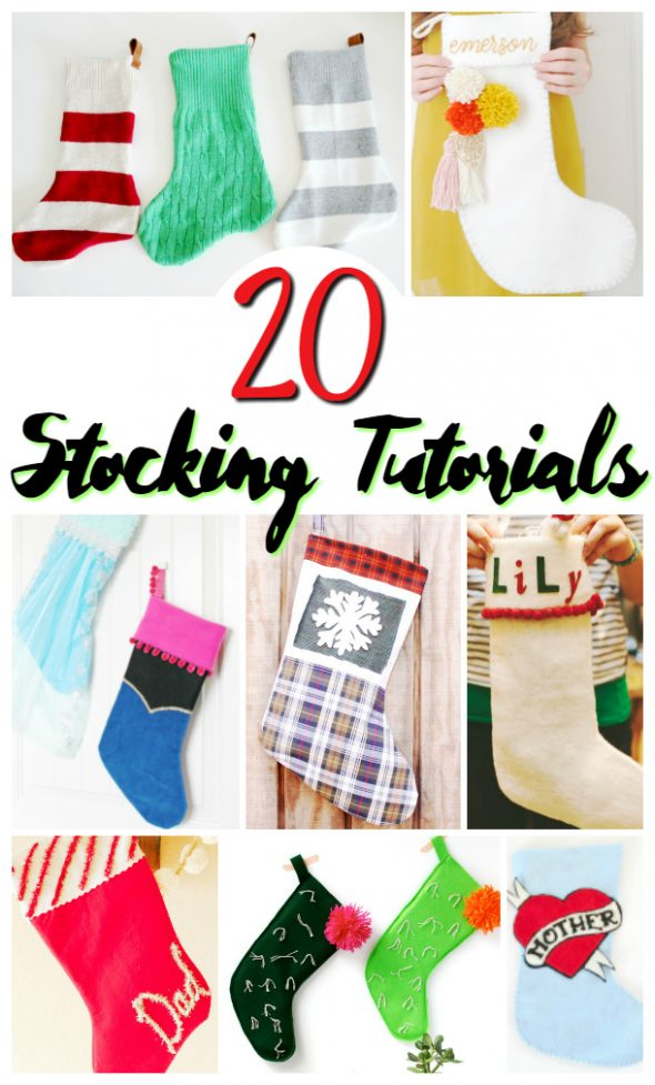 20 DIY Stocking Tutorials / perfect christmas craft