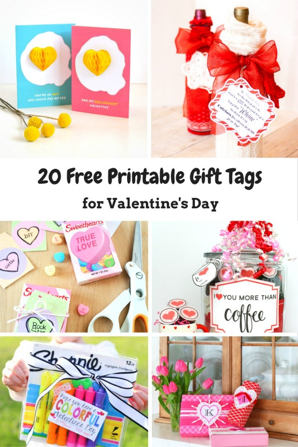 photograph about Free Printable Valentine Tags named 20 Totally free Printable Valentines Working day Present Tags - Hectic Mothers Helper