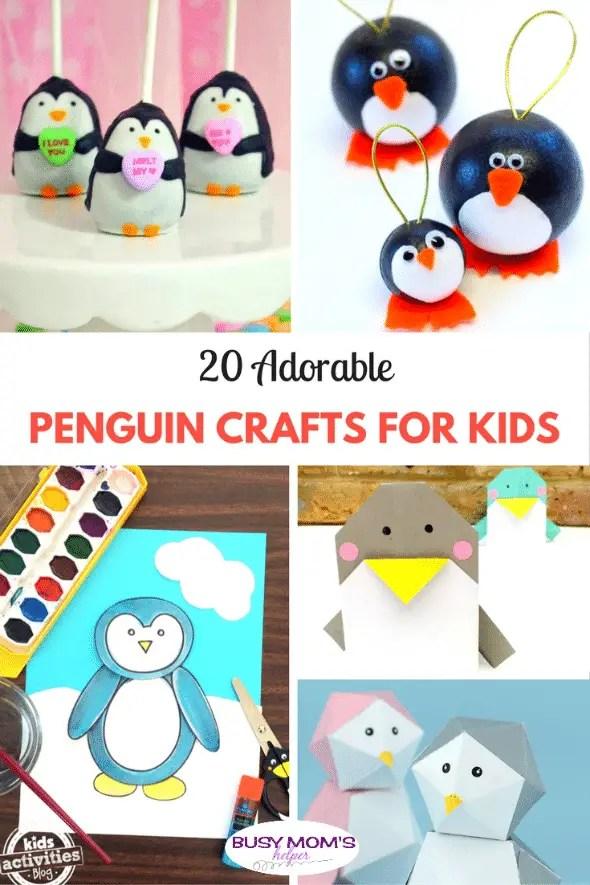 20 Adorable Penguin Crafts for Kids