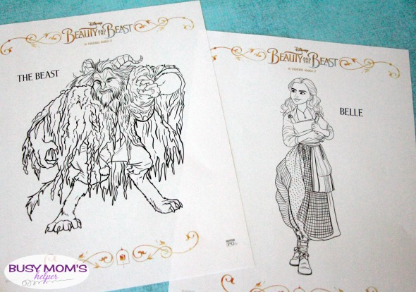 Beauty & The Beast Coloring Pages Free Printables