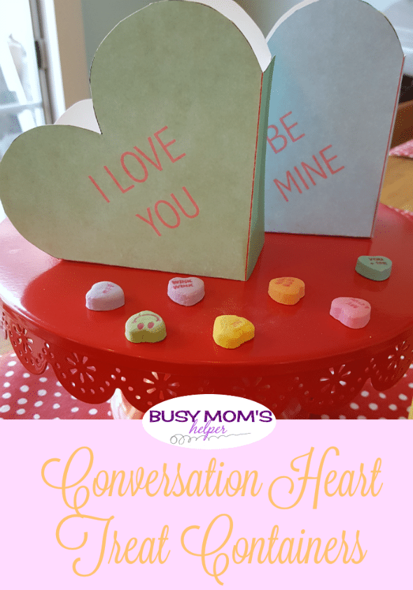 Conversation Heart Treat Containers