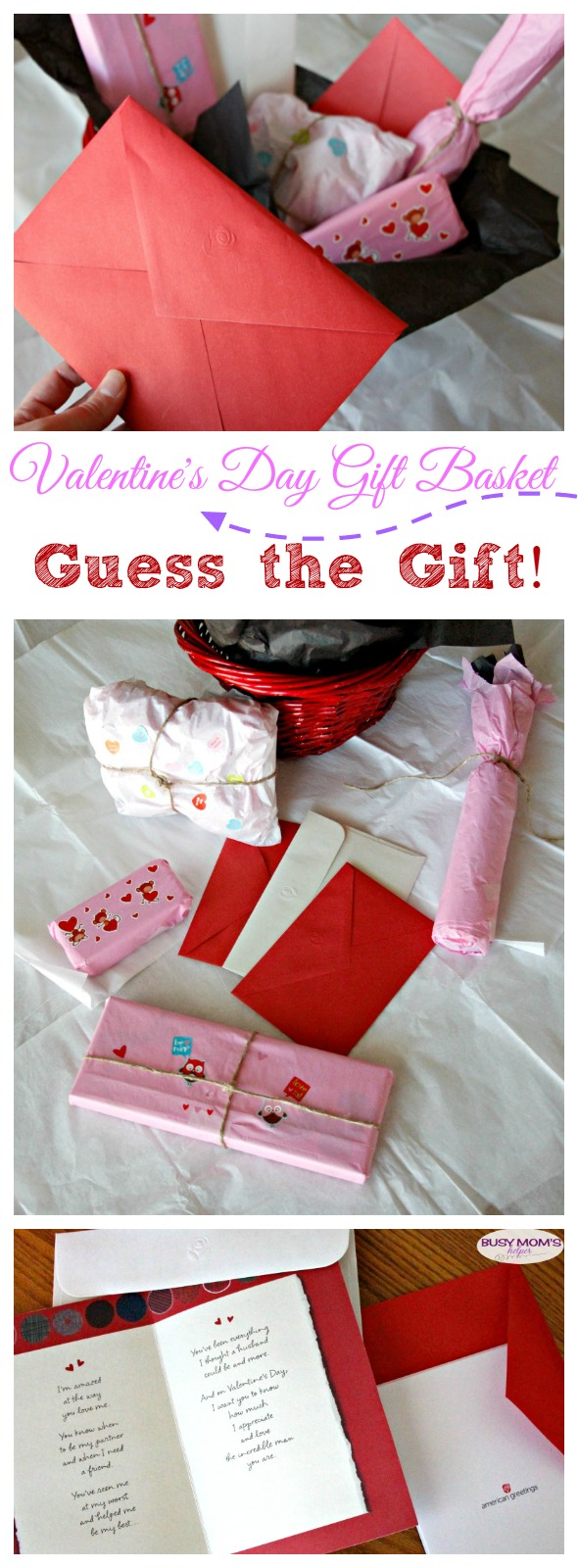 Valentine's Day Gift Basket: Guess the Gift! A playful and creative way to give to your sweetie this holiday #MyTuesdayValentine #ad