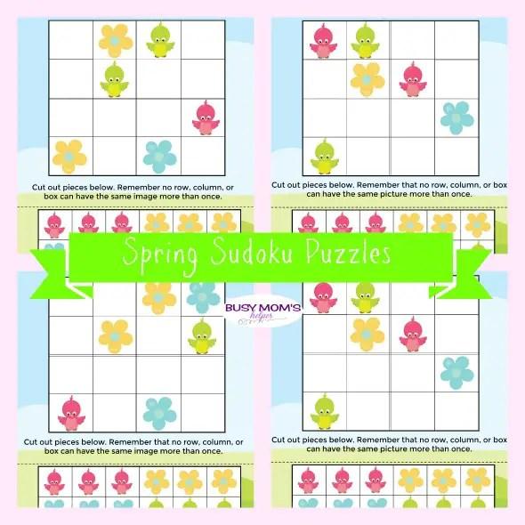 Spring Sudoku Puzzles - Busy Mom's Helper