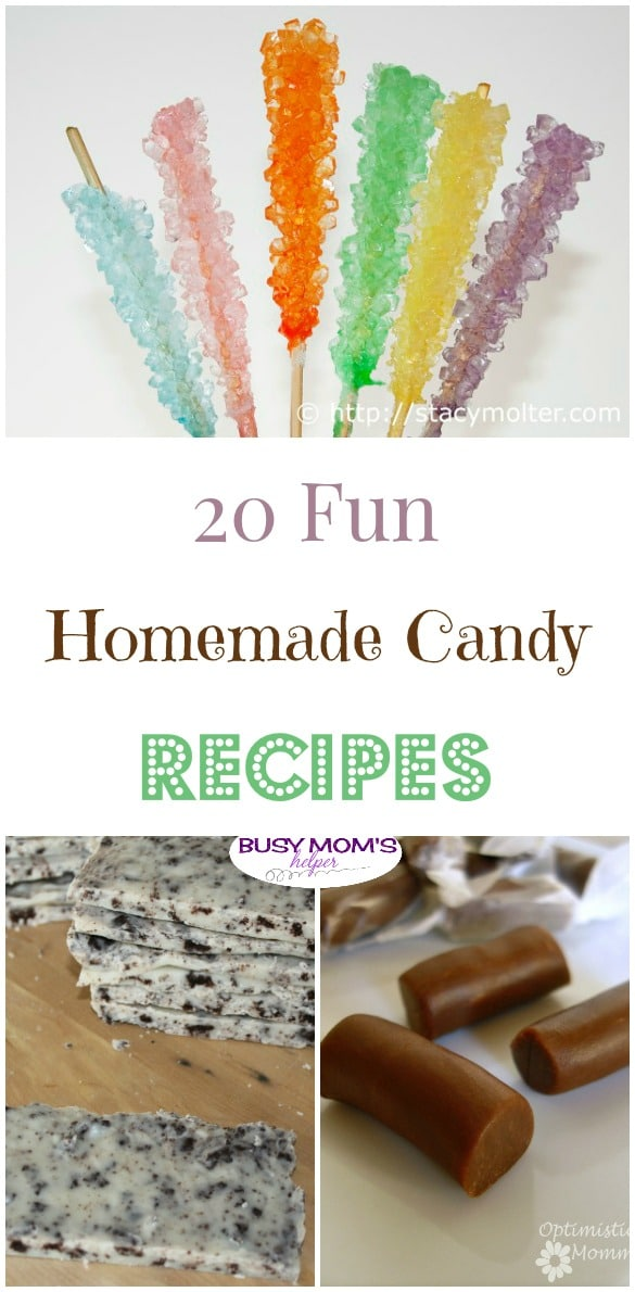 20 Fun Homemade Candy Recipes