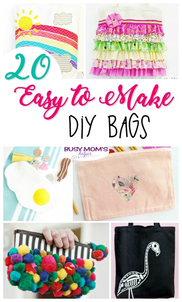 20 Easy to Make DIY Bags - Busy Mom's Helper