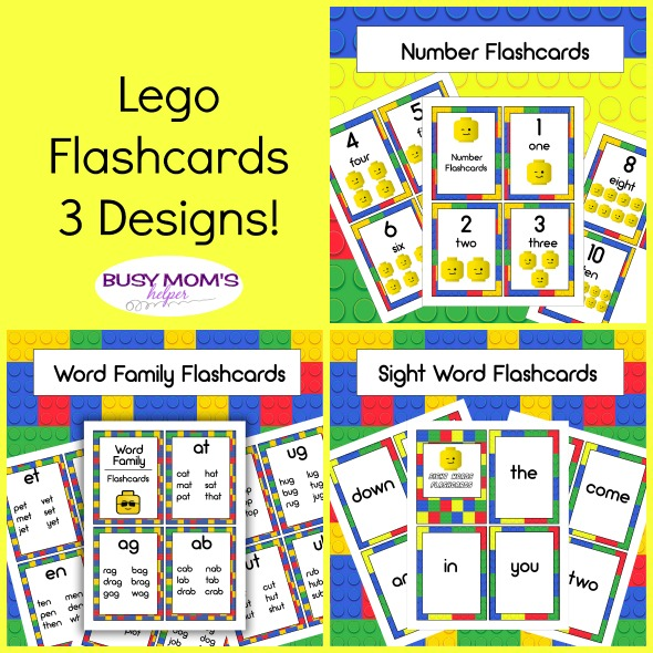Lego Flashcards - Busy Moms Helper