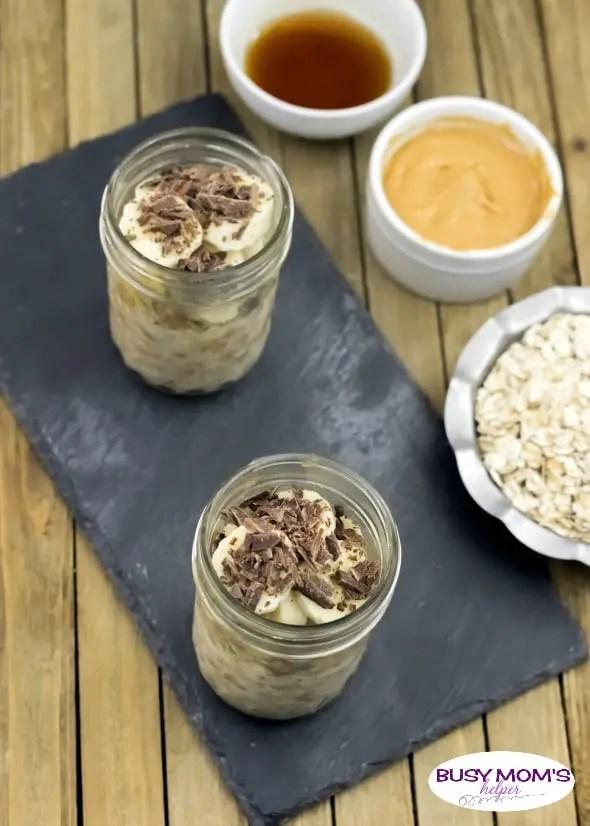 Peanut Butter and Banana Overnight Oats - Busy Moms Helper