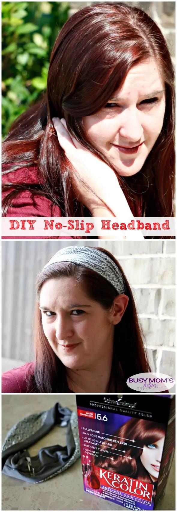 DIY No Sew Headband #ad #KeratinColor #KeratinCares @walmart @schwarzkopfus