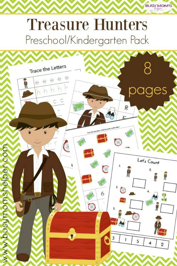 Free Printable Treasure Hunters Preschool Pack