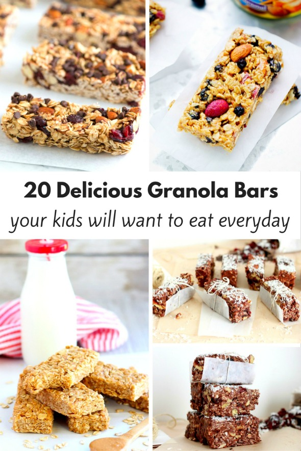 20 Delicious Granola Bar Recipes your kids will love!