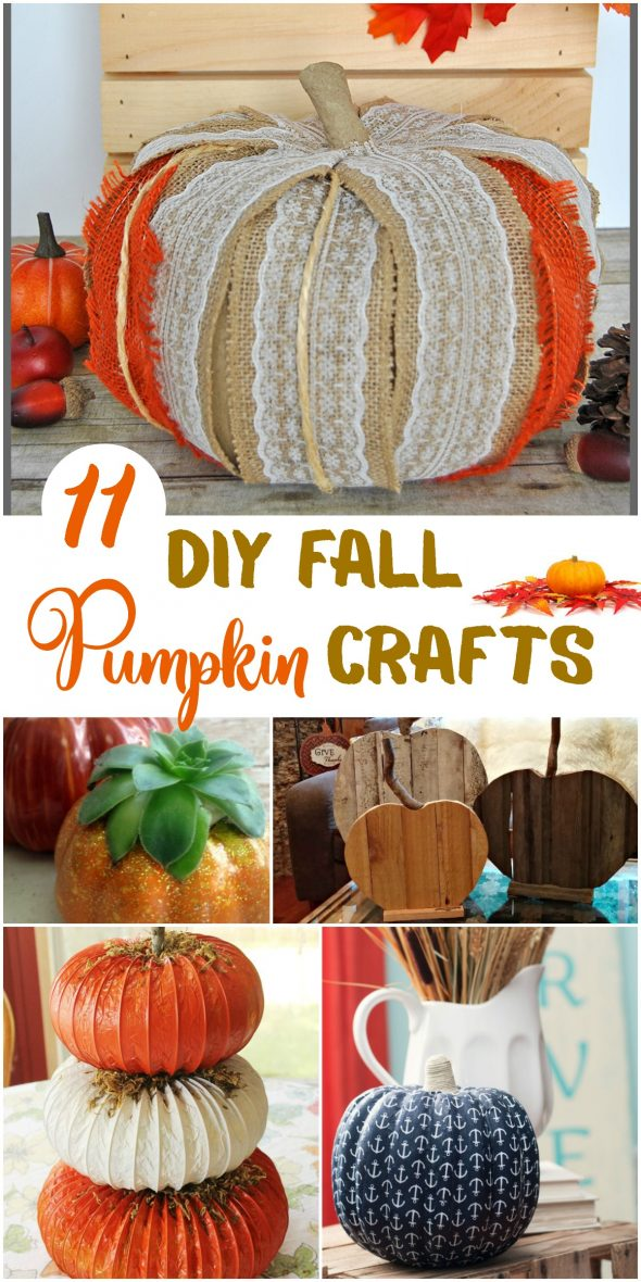 11 DIY Fall Pumpkin Crafts