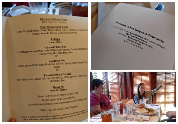 Lunch with an Imagineer at Hollywood Brown Derby / Walt Disney World Orlando / Hollywood Studios / a great experience to dine with an Imagineer