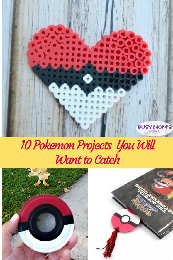 10 Pokemon Crafts: You'll Want To Try Them All! Great activities for kids, pokemon parties, gift ideas & more! #pokemon #kidactivities #kidcrafts #pokemoncrafts #kidparty