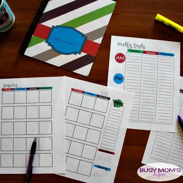Free Printable 2018 Planner & 2018 Calendar #planner #calendar #freeprintable #printable2018planner #printable2018calendar #organizing #homemanagement #timemanagement