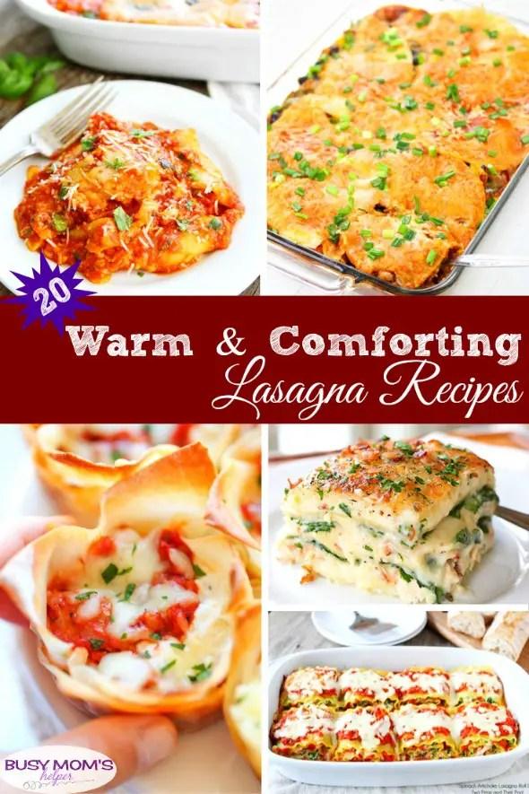 20 Warm & Comforting Lasagna Recipes #recipe #lasagna #easyrecipes #lasagnarecipe