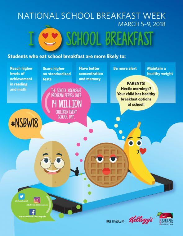 Mornings Saved by School Breakfast - celebrate National School Breakfast Week with us March 5th-9th 2018! #AD #NSBW18 #SchoolBreakfast #TrayTalk