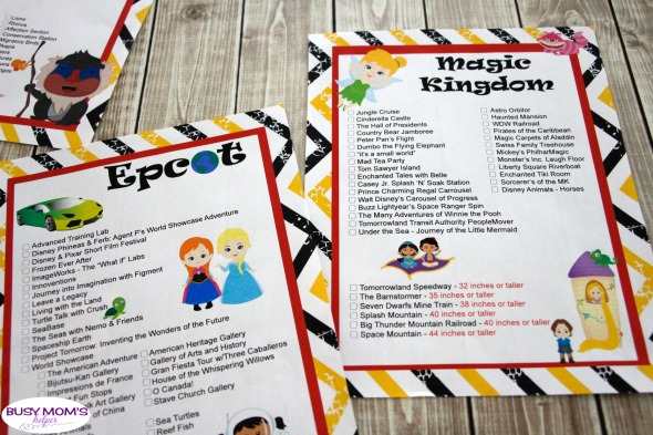 Updated Printable Walt Disney World Ride List now including Toy Story Land! #wdw #freeprintable #printable #waltdisneyworld #disney #ridelist #themepark #travel #family #magickingdom #epcot #hollywoodstudios #animalkingdom
