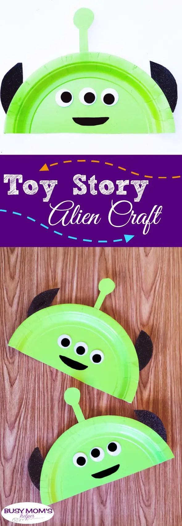 Toy Story Alien Craft #toystory #disney #kidcraft #disneycraft #aliencraft #disneydiy #toystoryland #alien