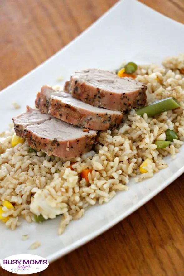Grilled Pork with Tinfoil Fried Rice #ad #RealFlavorRealFast #recipe #grilling #marinatedpork #friedrice #sidedish #grillingrecipe