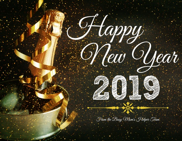 Happy New Year 2019 from the Busy Mom's Helper Team