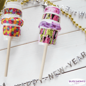DIY New Year's Eve Shakers #newyears #newyear2019 #diy #craft #kids #kidscraft #newyearsparty #parties