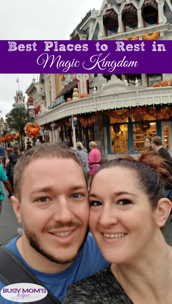 5 Best Places to Rest in Magic Kingdom #travel #waltdisneyworld #wdw #magickingdom #familytravel