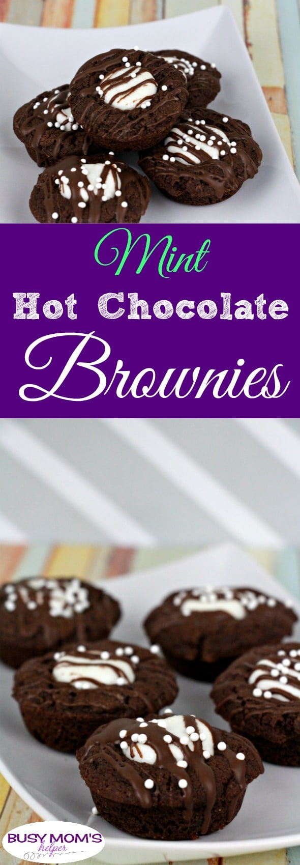 Mint Hot Chocolate Brownies #recipe #brownies #hotchocolate #hotchocolatebrownie #mintbrownie #minthotchocolate #minthotcocoa #hotcocoa #dessert #chocolate