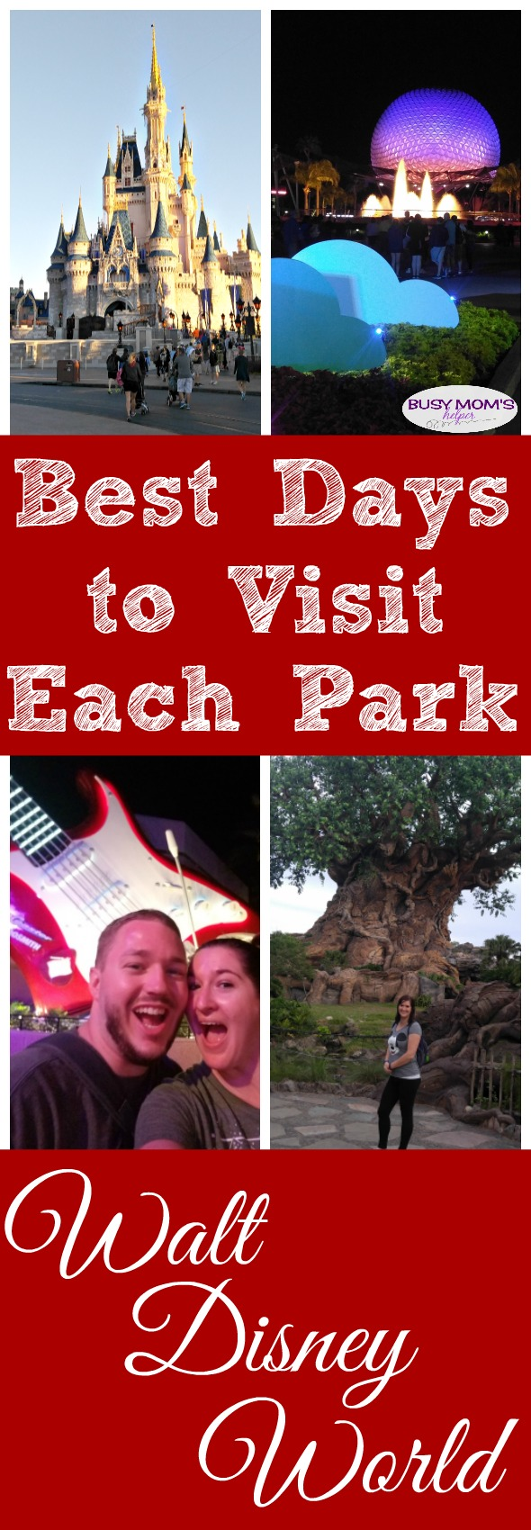 Best Day to Visit Each Park at Walt Disney World #waltdisneyworld #familytravel #travel #wdw #disneyparks