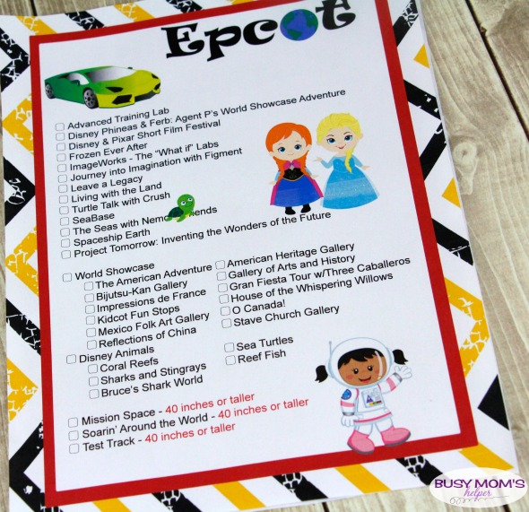 Free Printable Walt Disney World Ride Lists with Galaxy's Edge Update!!! Includes height requirements #waltdisneyworld #familytravel #disney #disneyparks #printables #disneyprintables #disneyworld