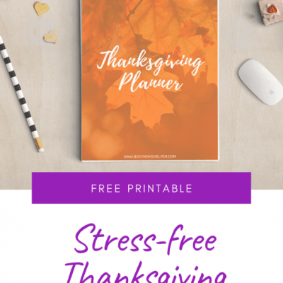 Free Printable Stress-Free Thanksgiving Planner #printable #thankgiving #freeprintable