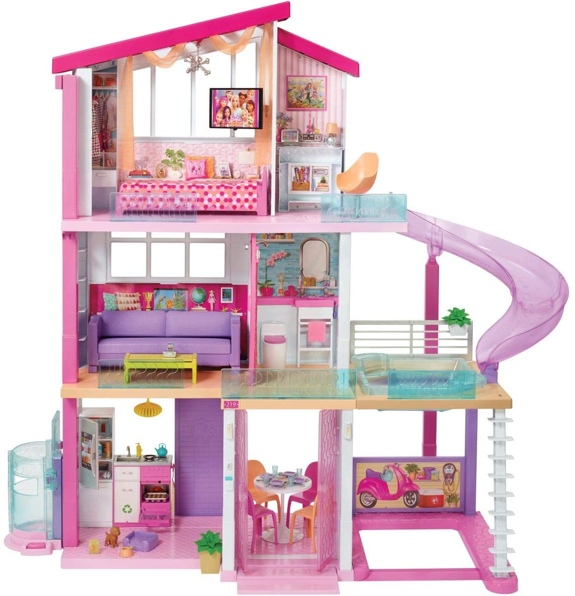Barbie Dreamhouse with Pool Slide and Elevator