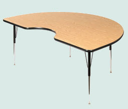 kidney-shaped-activity-table