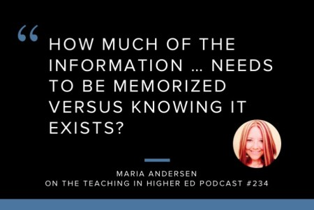 How much of the information needs to be memorized versus knowing it exists?