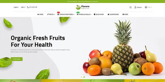Small Ecommerce Food Business Website Design