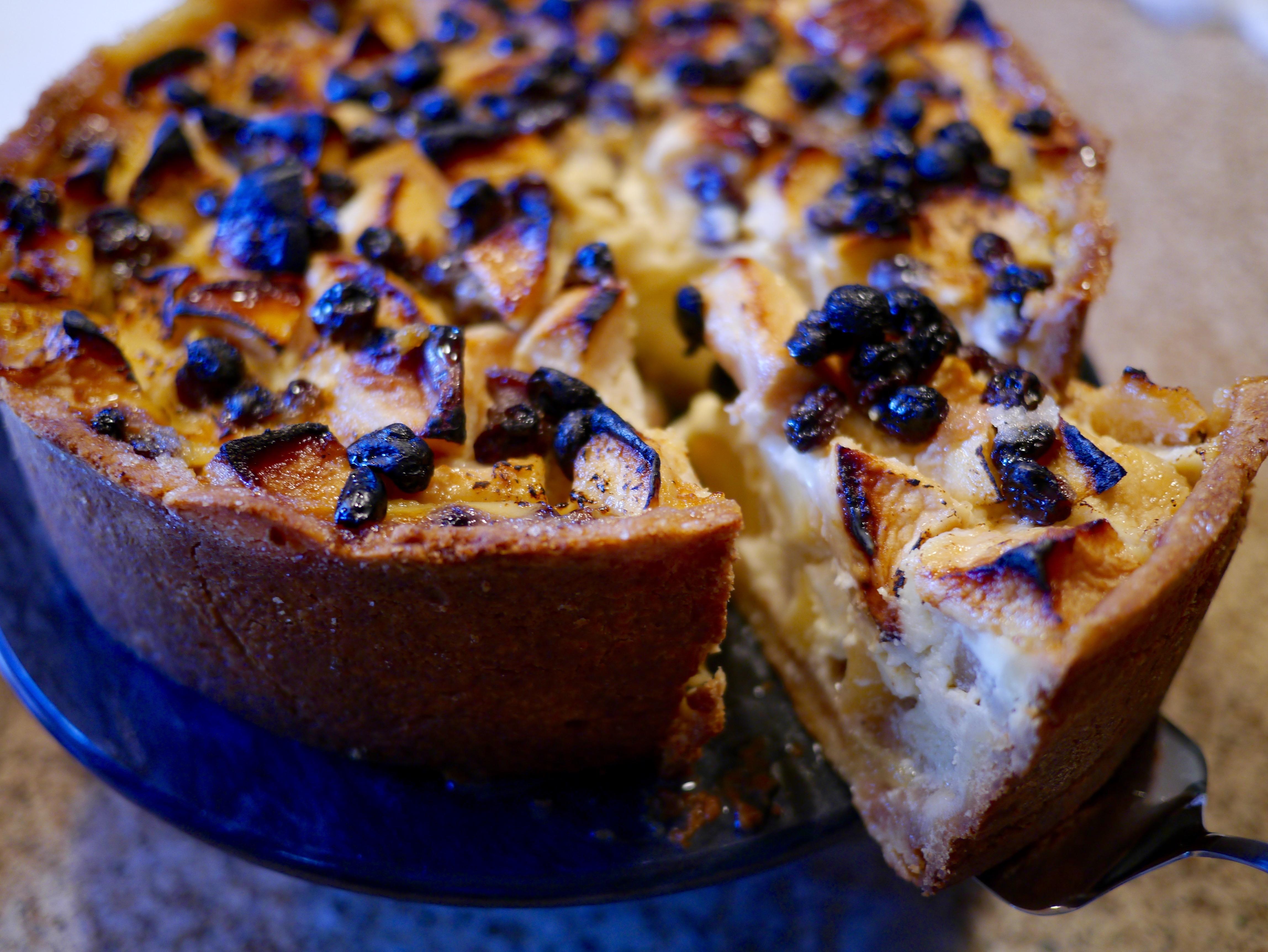 Kuchen P: Apple Kuchen: A Tall Apple-Custard Tourte