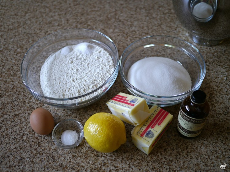 Lemon Sugar Cookies Ingredients
