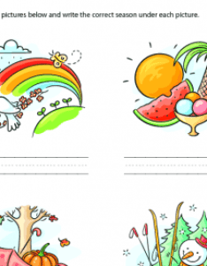 Writing the four seasons also free weather worksheets rh busyteacher